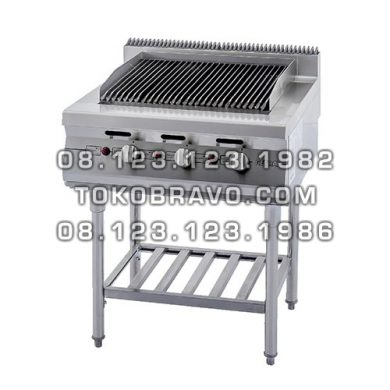 Gas Open Griddle and Broiler with Stand RSD-3 Getra
