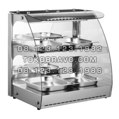 Food Warmer Front and Rear Sliding Door RTR-2D Getra