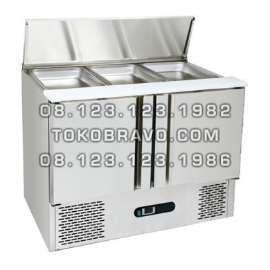 Stainless Steel Under Counter Chiller for Salads and Pizza SC-03-2D Gea