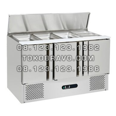 Stainless Steel Under Counter Chiller for Salads and Pizza