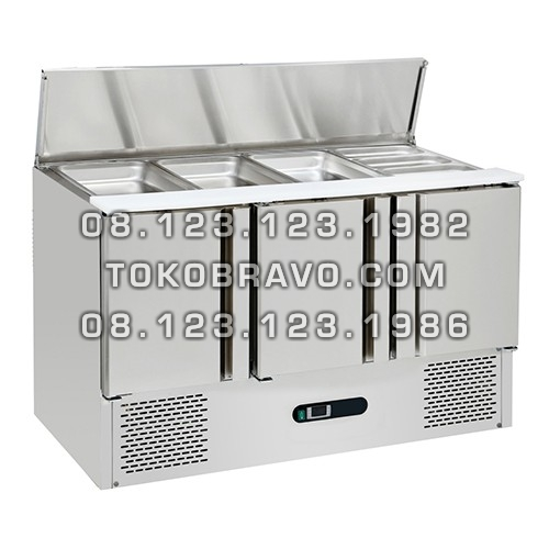 Stainless Steel Under Counter Chiller for Salads and Pizza SC-04-3D Gea