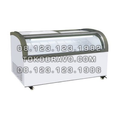 Sliding Curve Glass Freezer SD-1500QS Gea