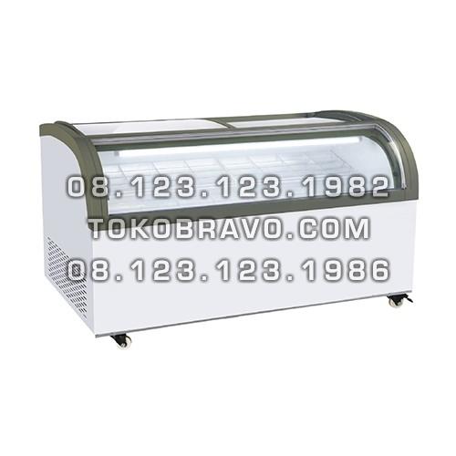 Sliding Curve Glass Freezer SD-1500QS Gea
