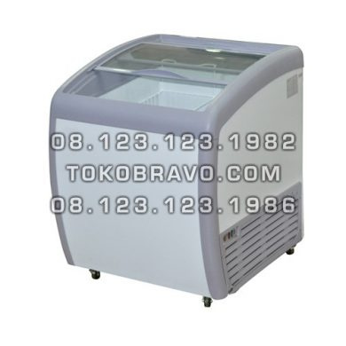 Sliding Curve Glass Freezer SD-160BY Gea