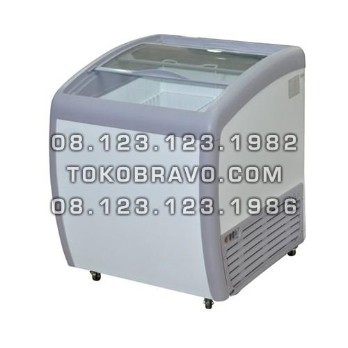 Sliding Curve Glass Freezer SD-160BY Gea