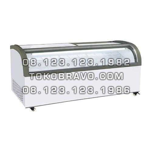 Sliding Curve Glass Freezer SD-2000QS Gea