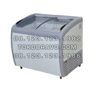 Sliding Curve Glass Freezer SD-260BY Gea