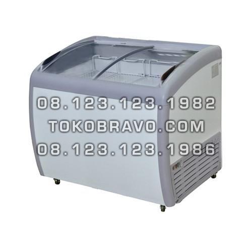 Sliding Curve Glass Freezer SD-260BY Gea