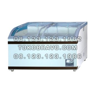 Sliding Curve Glass Freezer SD-500BY Gea