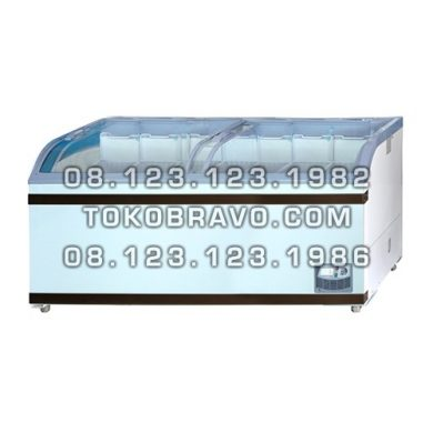 Sliding Curve Glass Freezer SD-700BY Gea