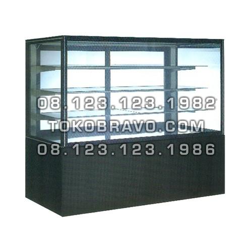 Rectangular Cake Showcase Black Marble Panel 3 Shelves SR-760V Gea