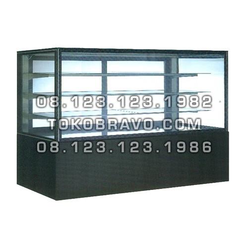 Rectangular Cake Showcase Black Marble Panel 3 Shelves SR-780V Gea