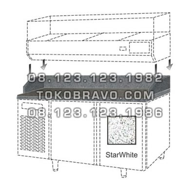 Marble Top Counter For Salad Case M-RW6T2HH Gea