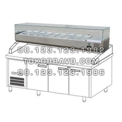 Stainless Steel Counter Top Salad Case
