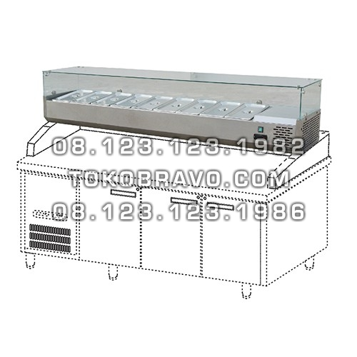 Stainless Steel Counter Top Salad Case STC-188 Gea