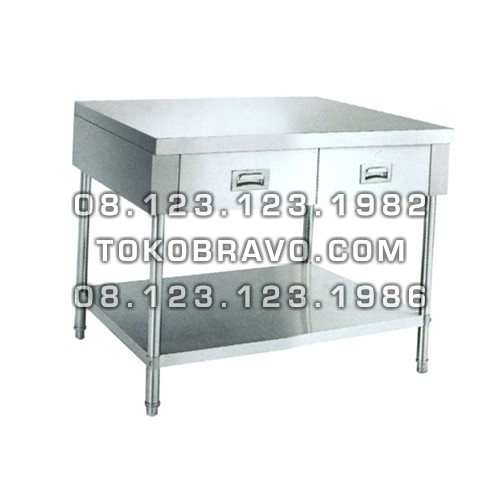 Stainless Steel Working Table with Drawers WKDW-150 Getra