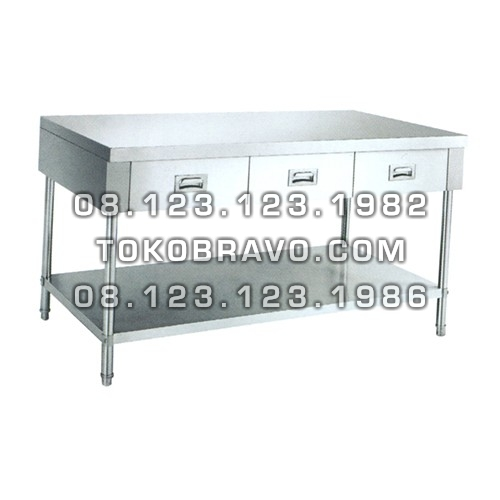 Stainless Steel Working Table with Drawers WKDW-180 Getra