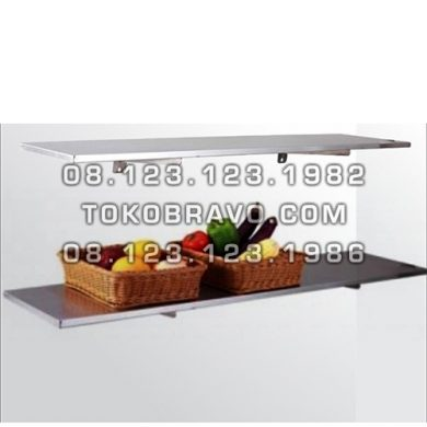 Stainless Steel Solid Wall Shelf / Foldable WSF-90 Getra