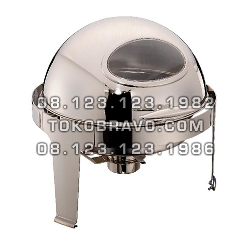 Chafing Dish Round Roll Top 6L with Window Lid YH-721LD Getra
