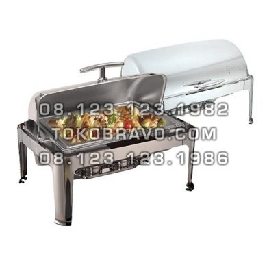 Chafing Dish Oblong Roll Top 9L (GN1/1) without Window Lid YH-723D Getra