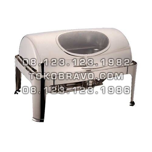 Chafing Dish Oblong Roll Top 9L (GN1/1) with Window Lid YH-723LD Getra